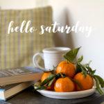 saturday mandarin oranges books tea