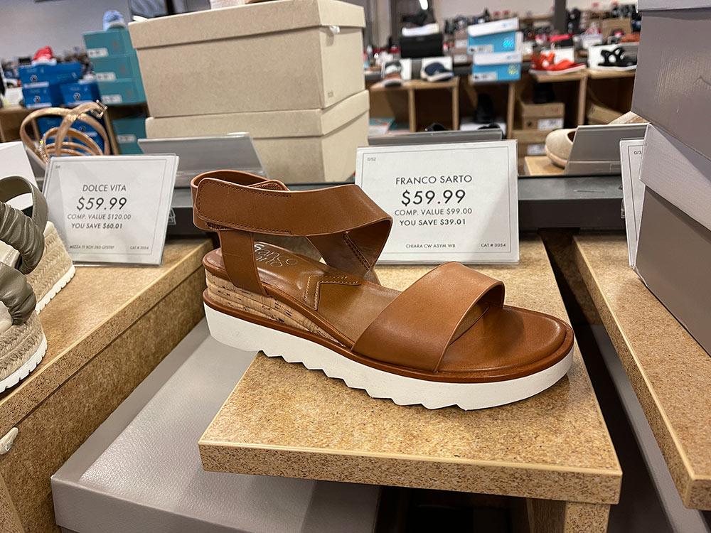 dsw spring 2021 dark brown franco sarto platform sandals