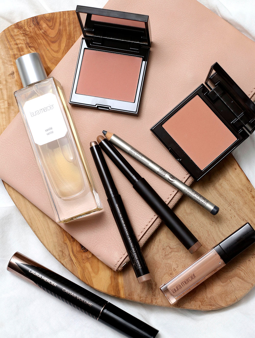 laura mercier 2021 flat lay