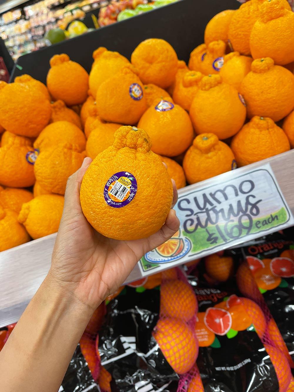 sumo citrus in hand