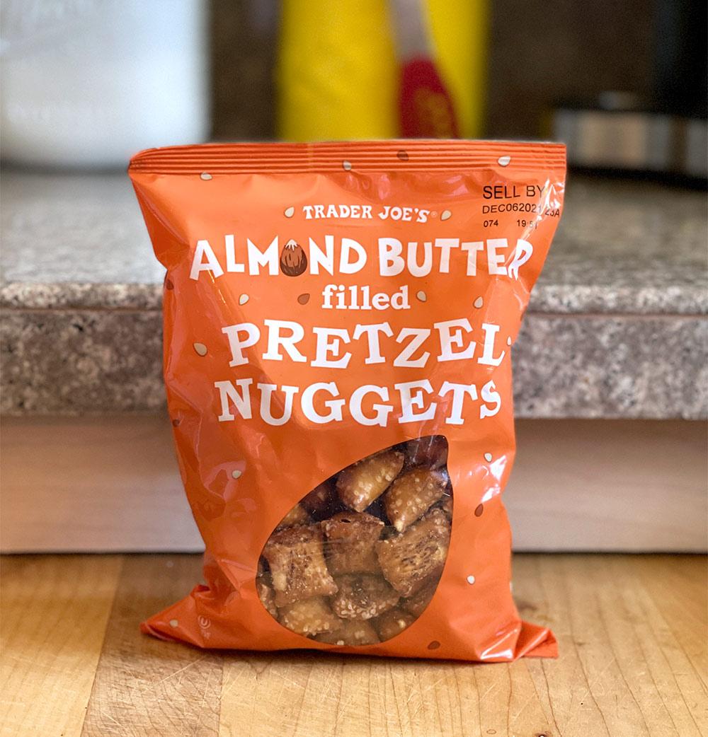 trader joes almond butter pretzel nuggets