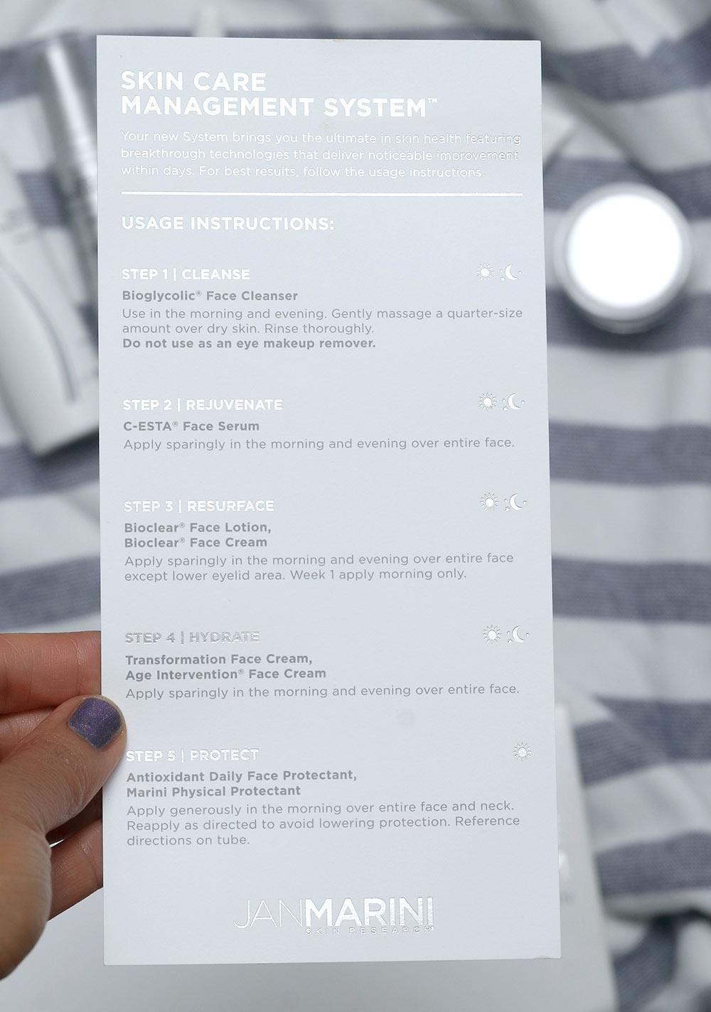 jan marini skin care management system card