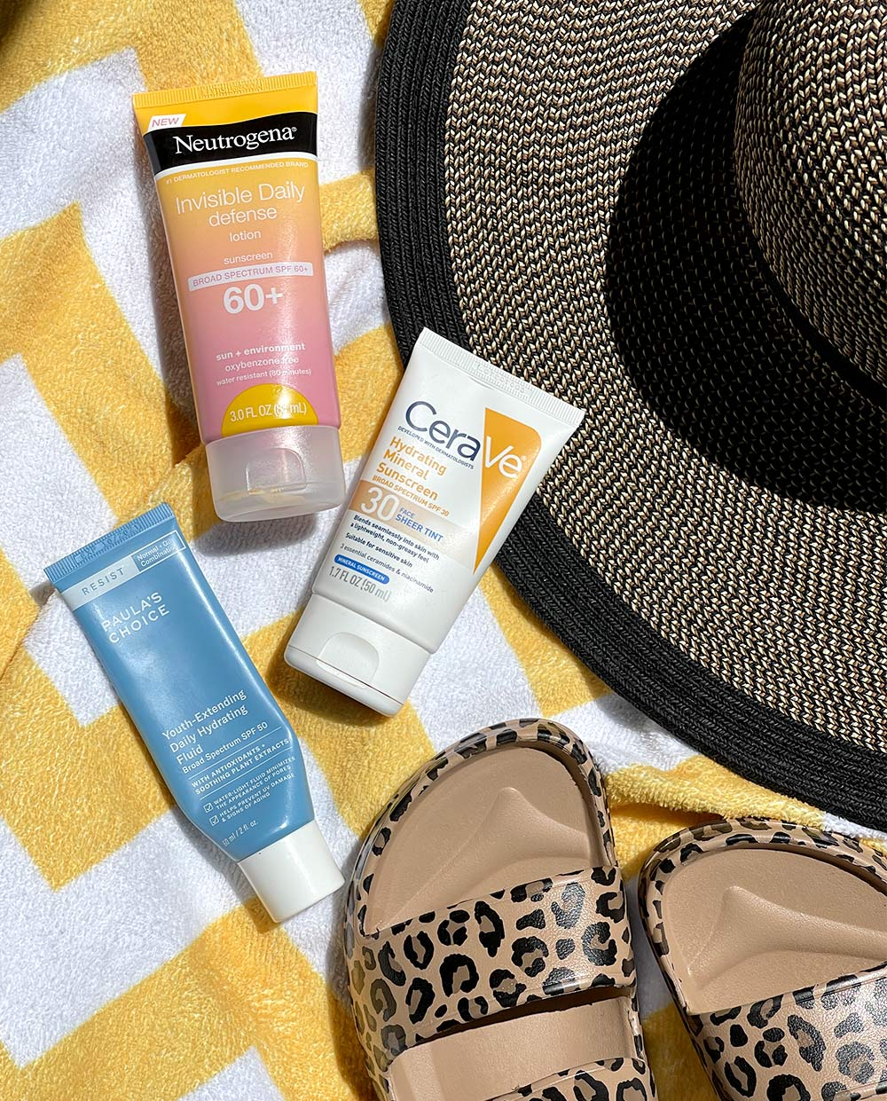 sunscreen roundup neutrogena paulas choice cerave