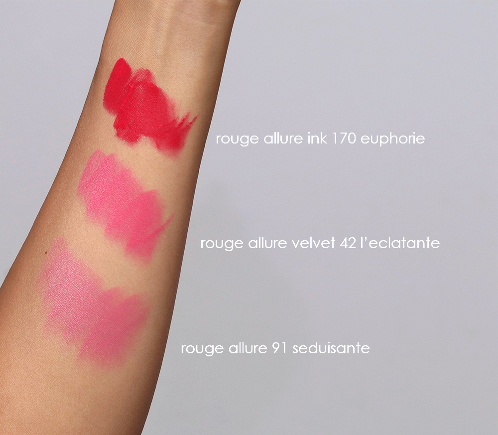 chanel rouge allure 170 91 24 swatches