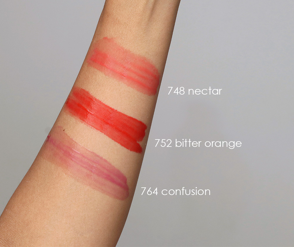 chanel rouge coco gloss 748 752 764