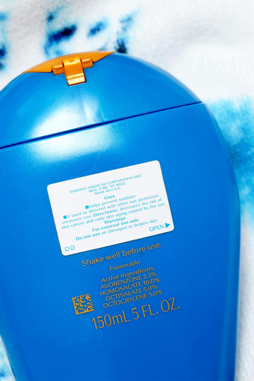 shiseido sunscreen bottle